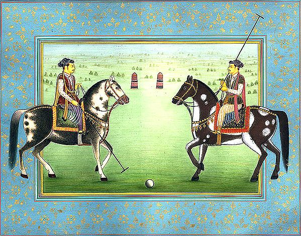 Princes Play Polo on Two Beautiful Horses