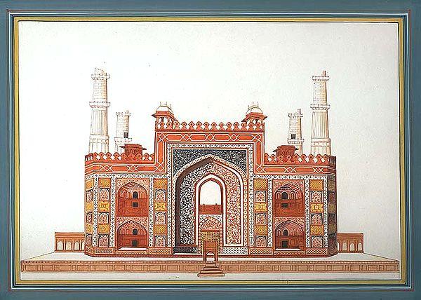 The Gateway of Akbar's Tomb at Sikandra