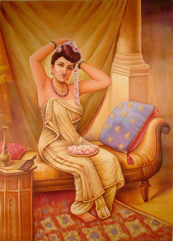 A Nair Woman Adorns Herself