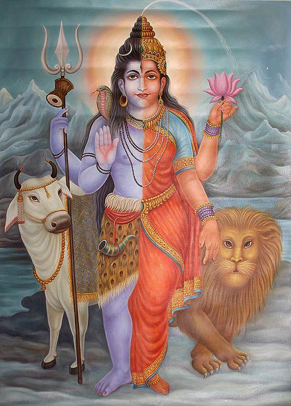 Ardhanarishvara At The Himalayas