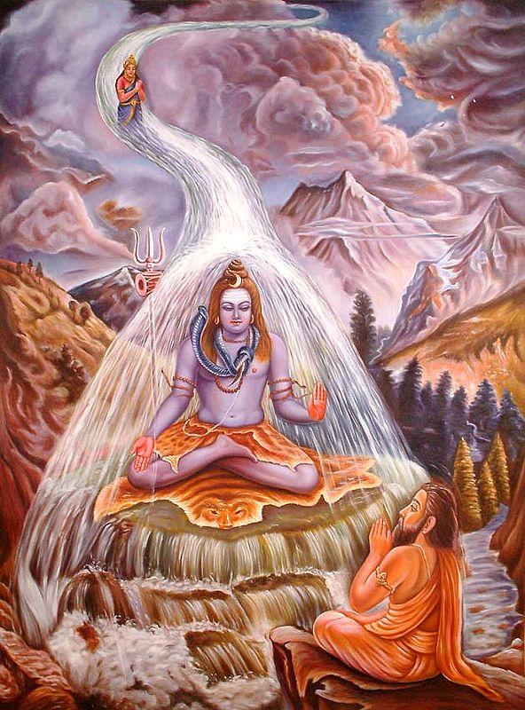 Descent of Ganga as Bhagirathi