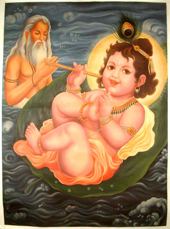 Checking For Himself The Sweetness of His Own Toe, Wondering What Makes People Drink the Water Touched by It (The Lord and His Maya)