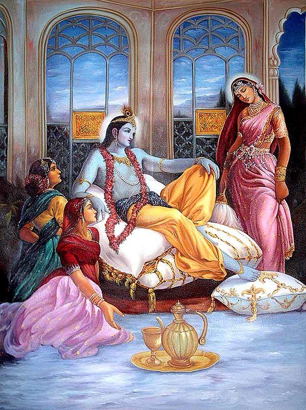Krishna in Royal Splendour