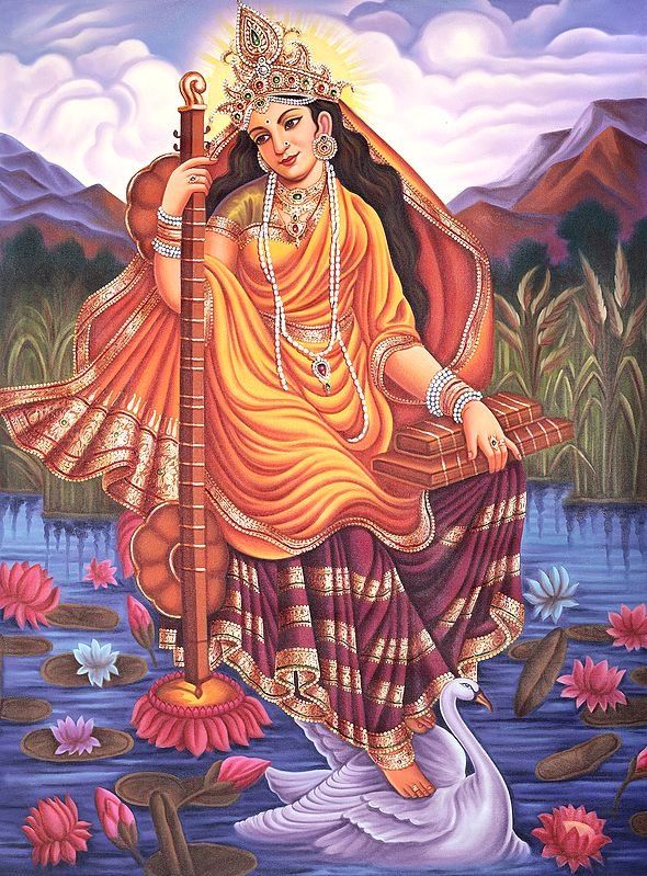 Goddess of Wisdom - Saraswati