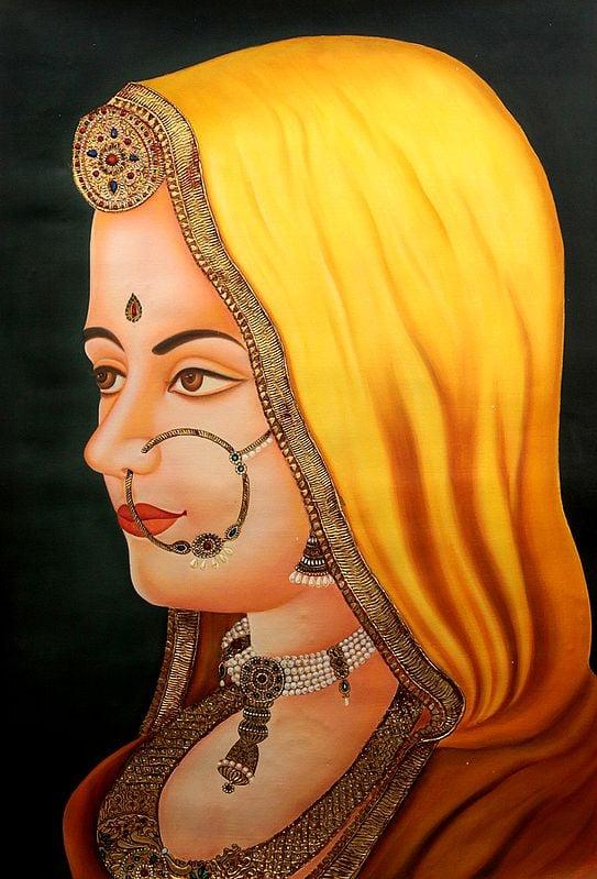 A Portrait of Rajasthani Bride