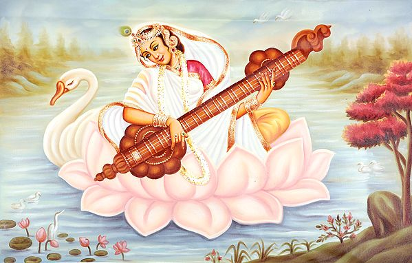 The Iconographic Perfection Of Devi Saraswati