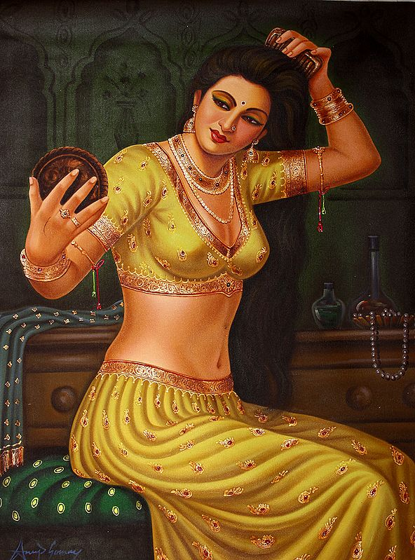 Lady Dressing Herself