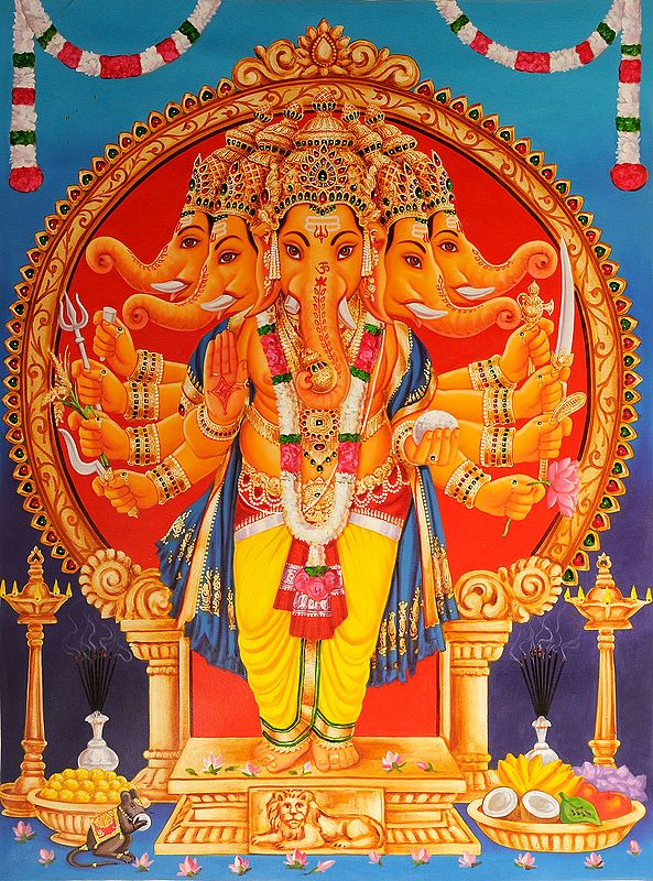 Five-Headed Lord Ganesha