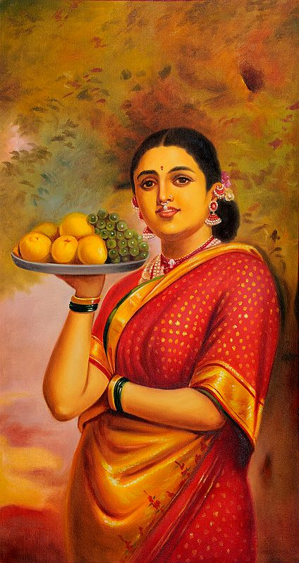 Lady with Fruits