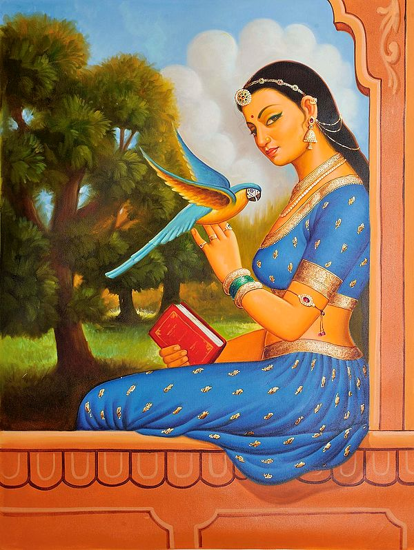 Lady with Her  Messenger