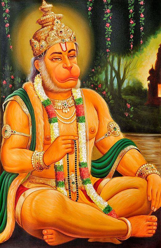 Shri Hanuman Commemorating Rama's Name
