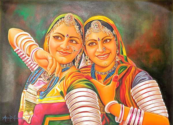 Two Young Bedia Women – A Tribe Earning Its Bread by Dancing