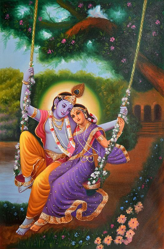 Krishna With His Bashful Beloved
