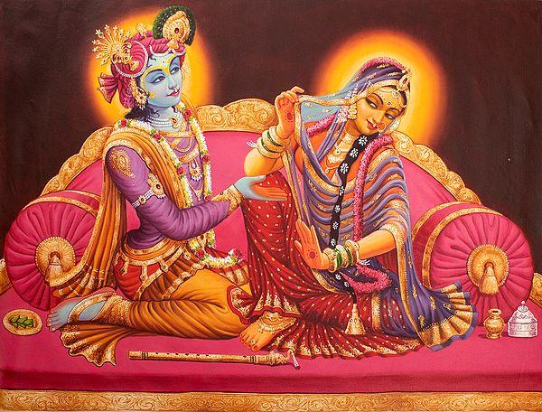 Radha Shies Away From Her Krishna