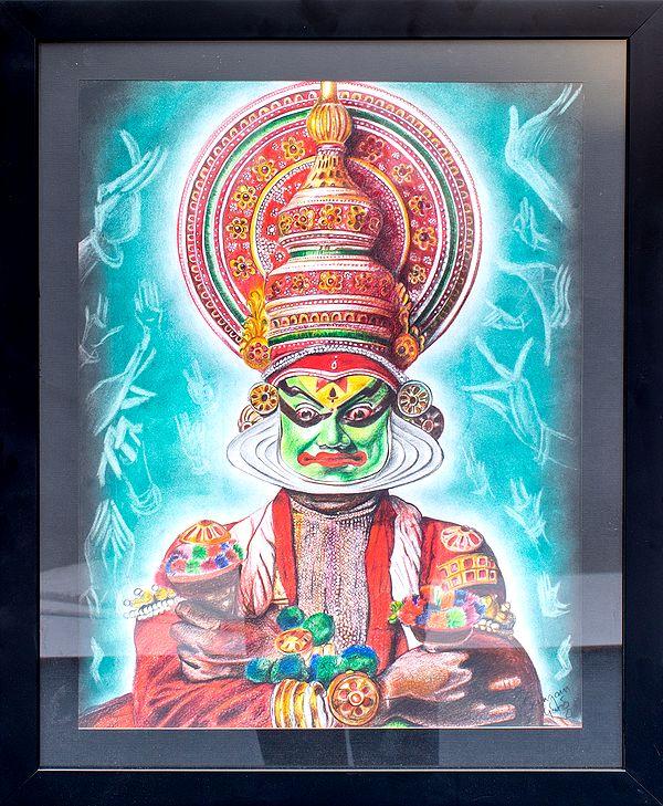 The Indian  Kathakali Dancer (Framed)
