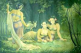 Shakuntala with Friends