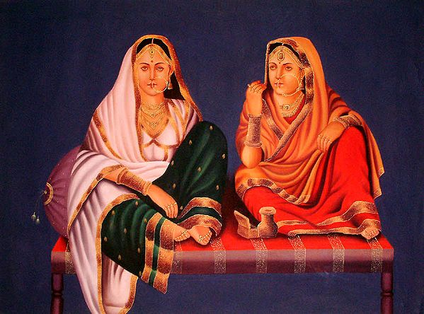 Two Ladies of North Indian Nobility