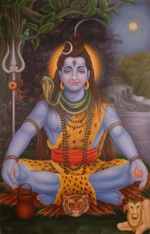 Who is Brighter? The Full-Moon, or Shiva Himself?