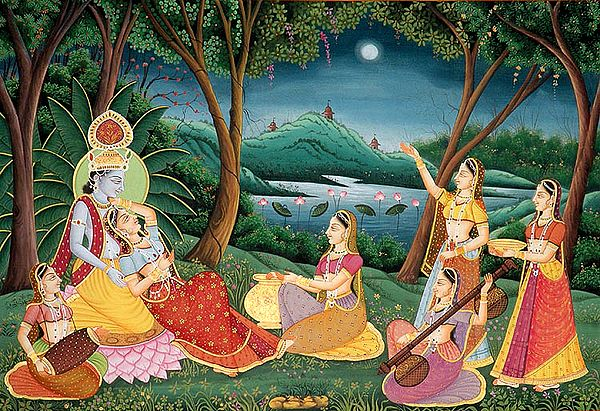 An Evening of Music with Krishna and Radha in Vrindavan