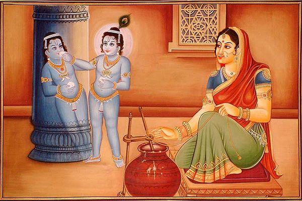 Krishna Revels in His Own Self