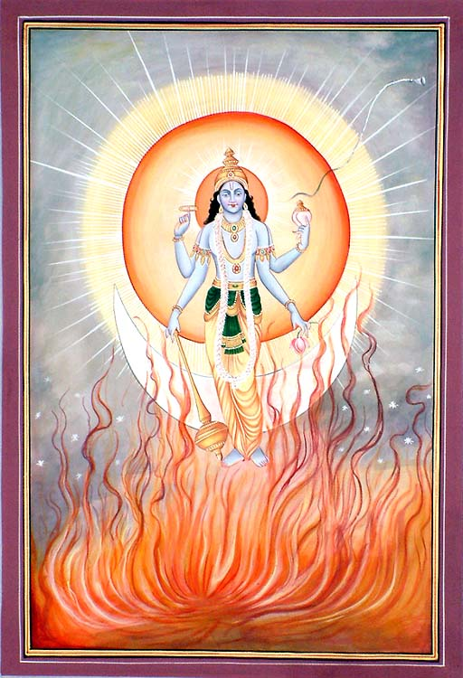 A Vision for Meditation on the Supreme Lord Narayana (Shrimad Bhagavatam 11.14.37-41)