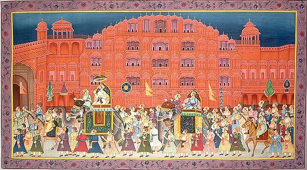 Procession at Hawa Mahal Jaipur