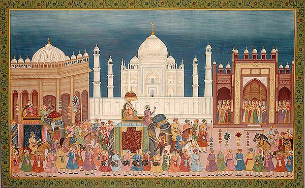 Procession at the Taj Mahal