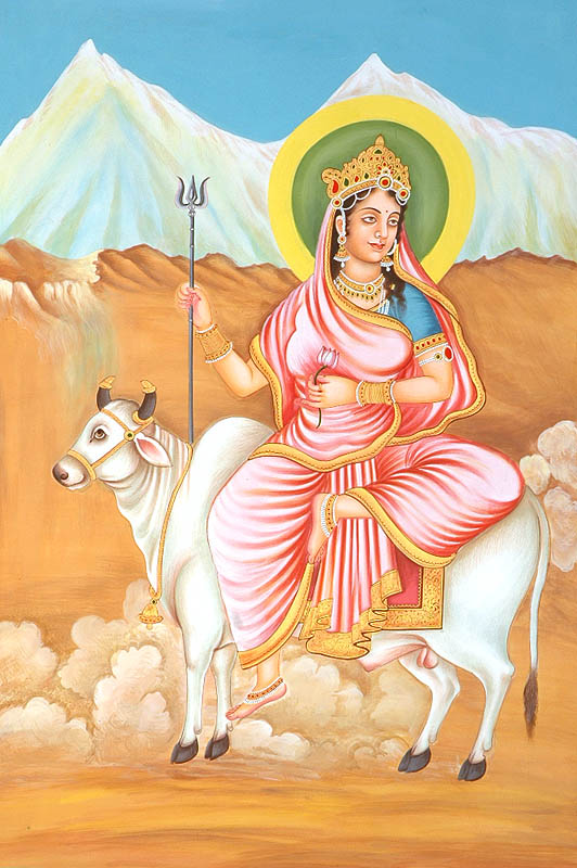Navadurga - The Nine Forms of Goddess Durga - SHAILAPUTRI (The First)