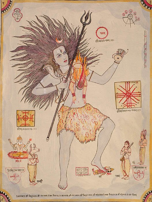 Tantric Diagram of Lord Shiva