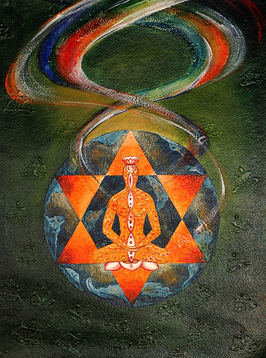 The Yogi Become One with The Cosmos