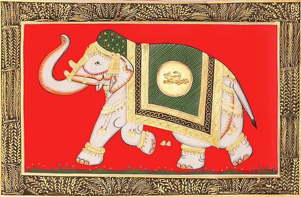 A Royal Decorated Elephant