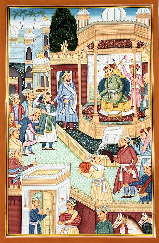 Mughal Court Scene