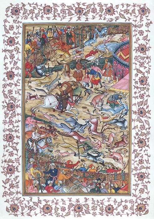 Akbar Hunting in an Enclosure