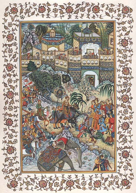 Akbar's Triumphant Entry into Surat