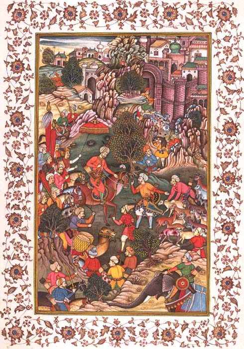 Babur Captures a Flock of Sheep from the Hazaras