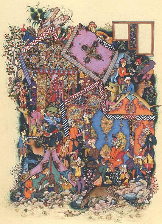 Majnun Eavesdrops on Layla's Camp