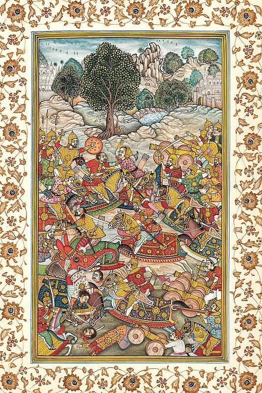 Persian Battle Scene