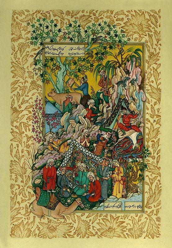 Majnun's First Glimpse of the Fair Laila
