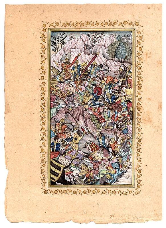 Battle between the Armies of Humayun and Hamid Khan