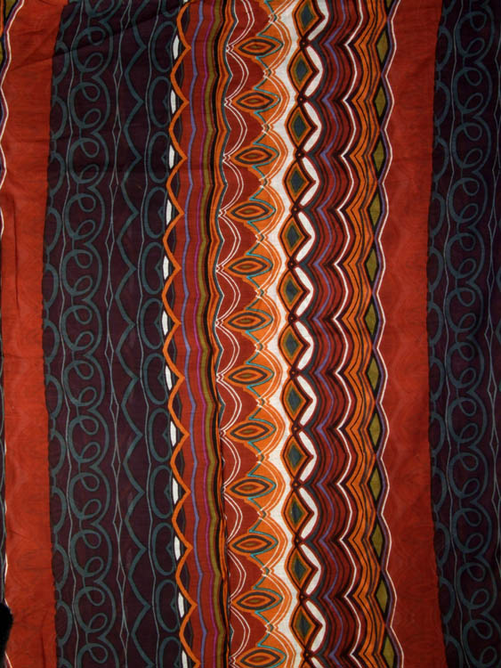 Brown Printed Pure Cotton Fabric