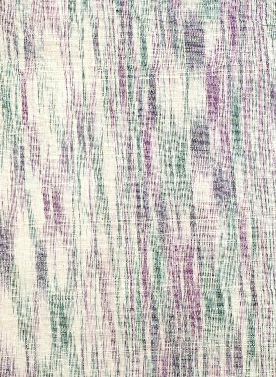 Green and Purple Handspun Coarse Khadi
