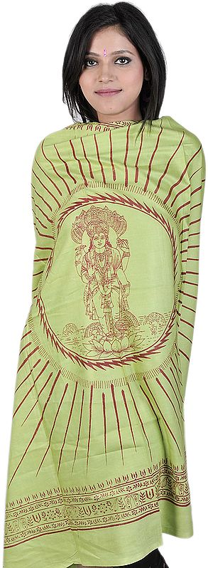Green Prayer Shawl of Lord Vishnu the Preserver