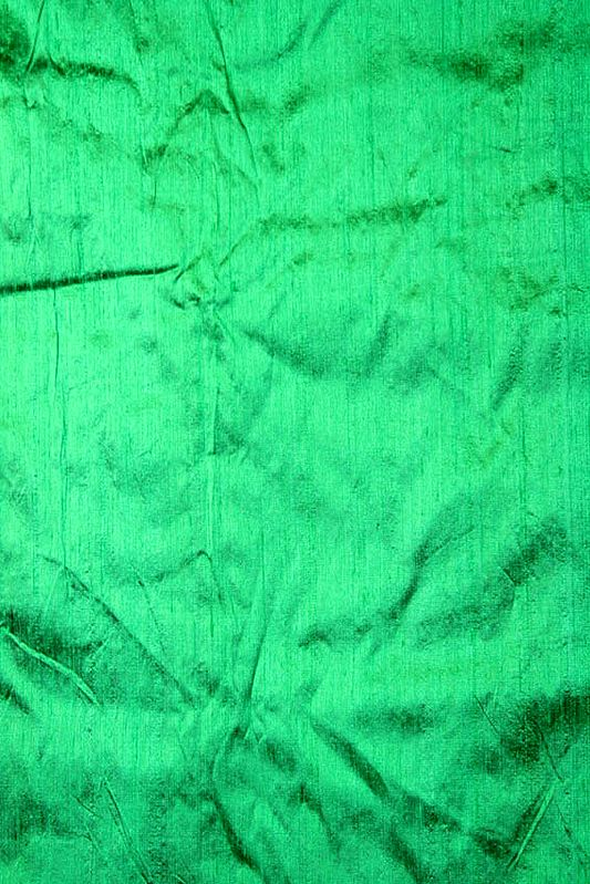 Islamic-Green Khadi Silk Fabric