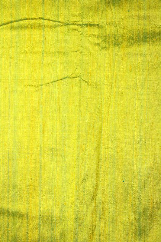 Lime-Green Khadi Silk Fabric