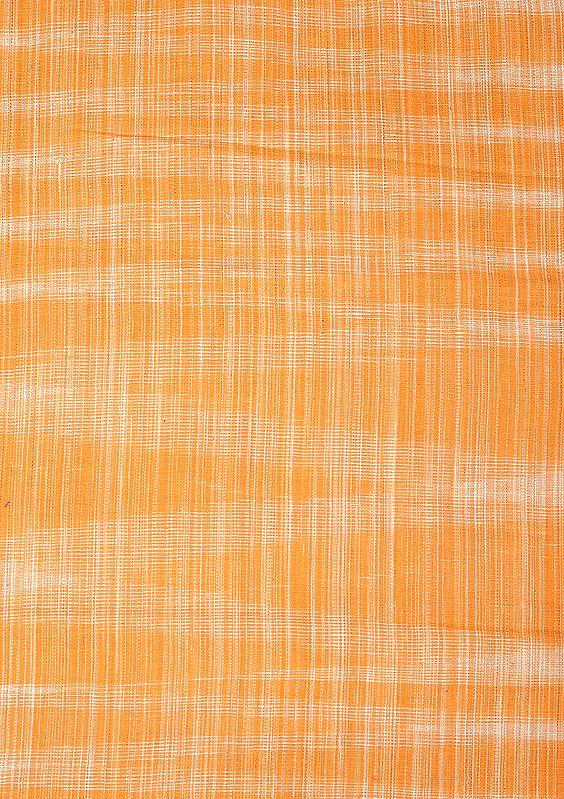 Russet Orange Hand Woven Coarse Khadi Fabric
