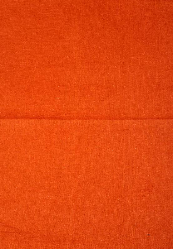 Sadhu-Orange Hand Woven Plain Khadi Fabric