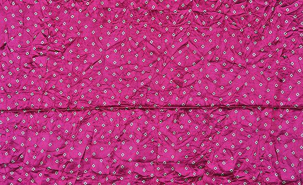 Purple Bandhani Printed Fabric
