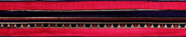 Crown-Jewel Banarasi Border Woven with Temple Design