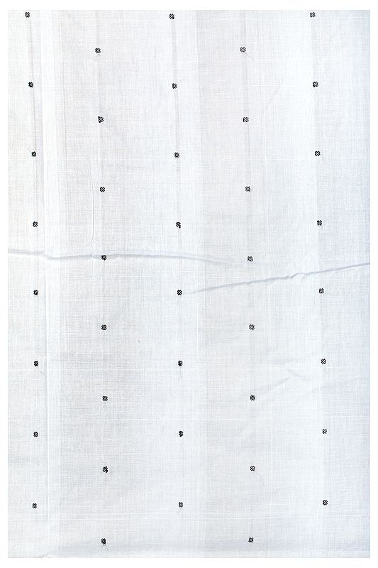 Fabric from Karnataka with Hand-woven Bootis All-Over
