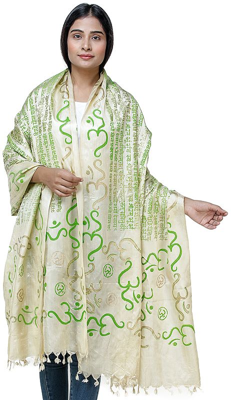 Om Gayatri Mantra Prayer Shawl